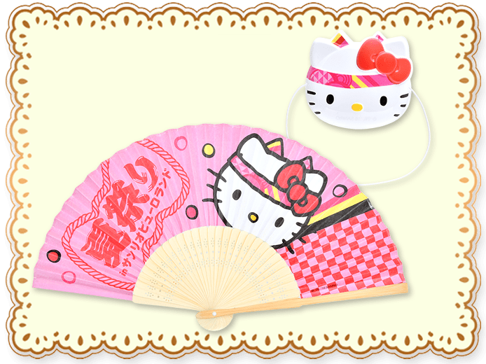 【7/16(土)発売!】ミニおめん&扇子セット(全6種類)<br>各1,000円(税込)