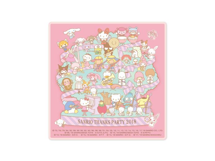 2018/12/7(金)~発売!<br>SANRIO THANKS PARTY 2018 プチタオル<br>540円(税込)