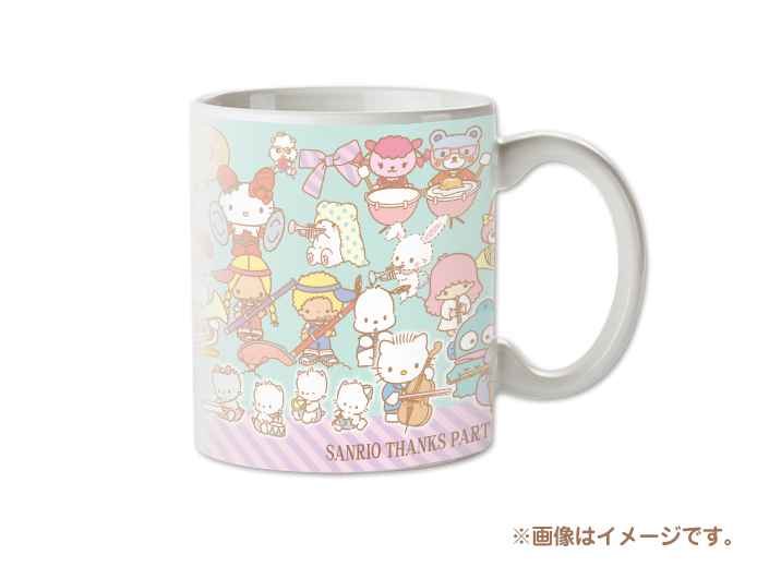 2018/12/7(金)~発売!<br>SANRIO THANKS PARTY 2018 マグカップ<br>972円(税込)